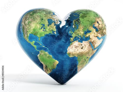 Obraz Heart shaped earth - fototapety do salonu
