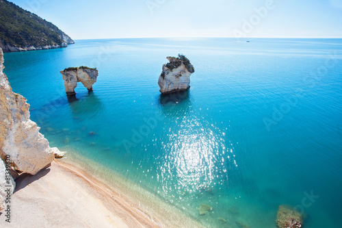 Photo Italian coast (Baia delle Zagare beach, Gargano)