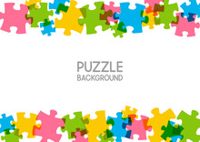 Puzzle Background With Place F...