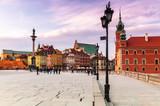 Fototapeta Miasto - Warszawa Plac zamkowy