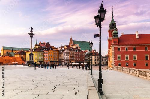Naklejka premium Warszawa Plac zamkowy