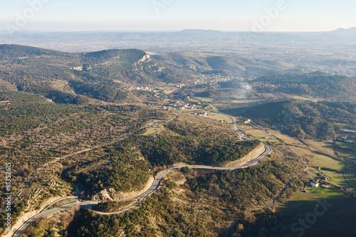 La vallée de St Ambroix vue du ciel Wallpaper Mural