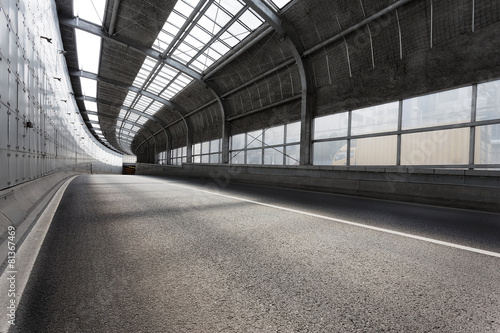Foto op Canvas Tunnel Empty tunnel of modern city