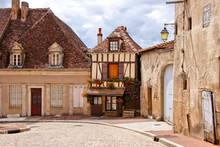 Quaint Street In A Town In Bur...