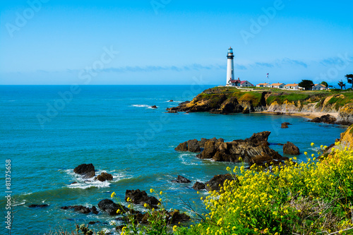 plakat Pigeon Point Lighthouse in California