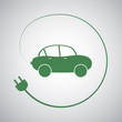 Electric Vehicle - Eco Friendly Car Icon Design Template