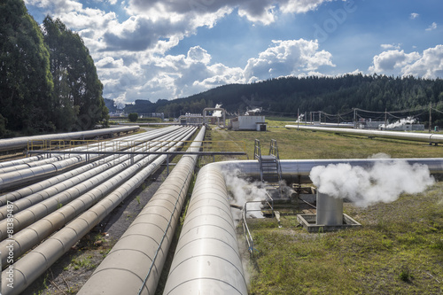 Staande foto Industrial geb. Geothermal power Station