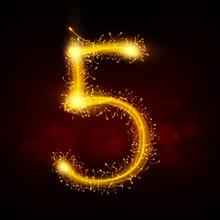 3d Sparkler Firework Number 5