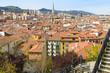 Vista panorámica del Casco Viejo de Bilbao, España