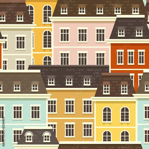 miasto-bez-szwu-desen-wektorowa-ilustracja-z-malutkimi-plaskimi-domami