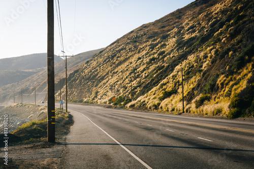 Poster Los Angeles Pacific Coast Highway, in Malibu, California.