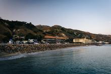 View Of The Pacific Coast From The Malibu Pier, In Malibu, Calif