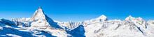 Panorama View Of Matterhorn An...
