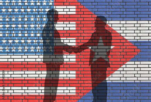 USA -CUBA business Wallpaper Mural