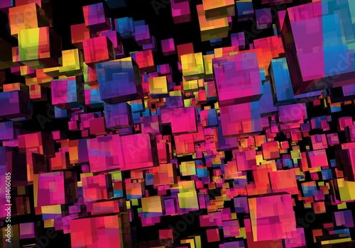 Abstract Illustration of Colorful Cubes © ike