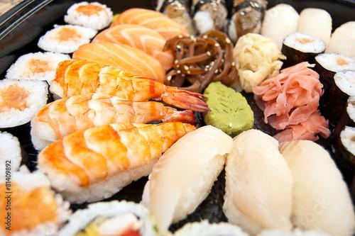 Fotobehang Schaaldieren Sushi.