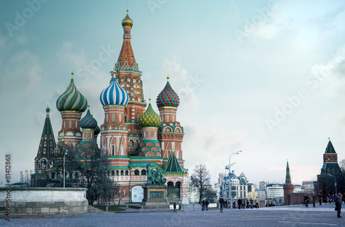 Saint Basil's Cathedral on Red Square in Moscow - 81412868