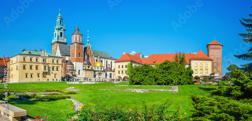 View of Wawel Royal Castle, Zygmunt Cathedral, Krakow, Poland #81413290
