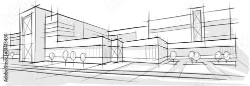 szkic-architektury-budynku