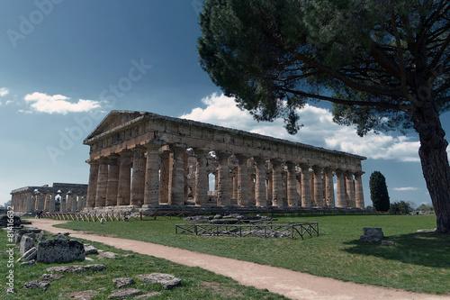 Poster Athene Area Archeologica Paestum - Templi