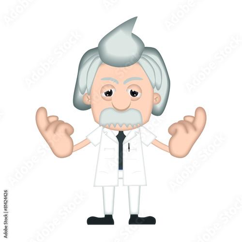 Photo  Funny Albert Einstein Cartoon Illustration Comic