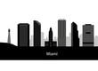 Miami Skyline with Typography Design