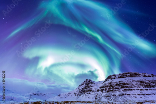 Photo sur Toile Aurore polaire The Northern Light Aurora Iceland