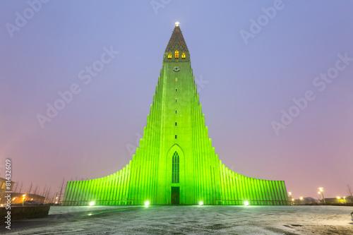 Fényképezés  Hallgrimskirkja Cathedral Reykjavik Iceland