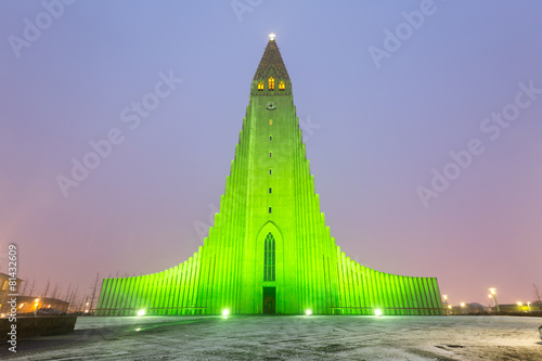 Fotografija  Hallgrimskirkja Cathedral Reykjavik Iceland