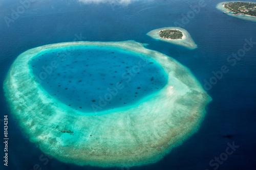 Fotografía  maldives aerial view landscape