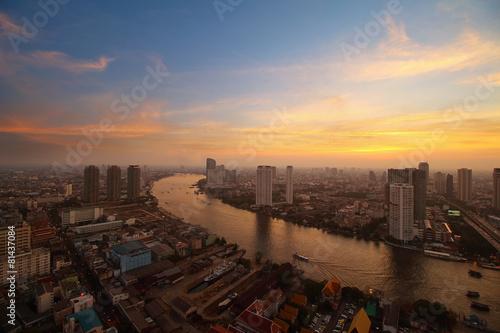 Ingelijste posters Centraal Europa Bangkok skyline