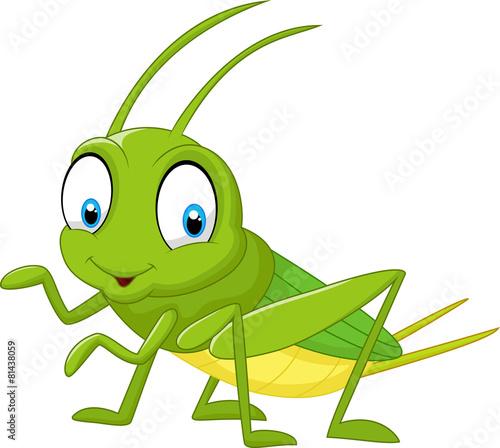 Stampa su Tela Cartoon funny cricket