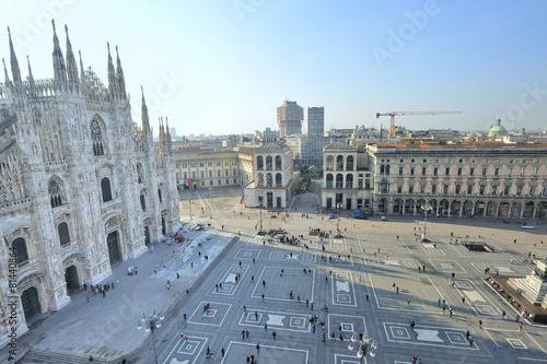 Museo Del 900 Milano.Milano Piazza Del Duomo E Museo Del Novecento Buy This Stock Photo