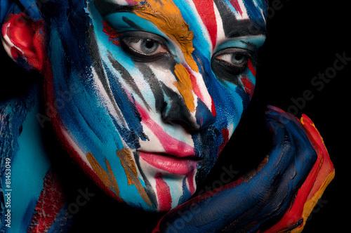 Obraz w ramie Colorful portrait of a girl.