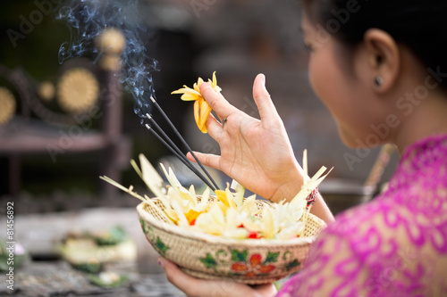 Foto op Aluminium Bali traditional offering for gods