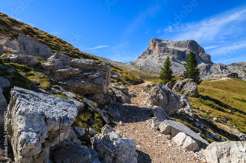 Foto op Aluminium Oceanië Rocks in Cinque Torri National Park in Dolomites Mountains