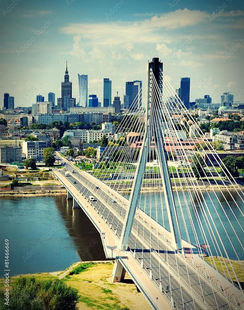 Fototapety, obrazy: Most Świętokrzyski w Warszawie