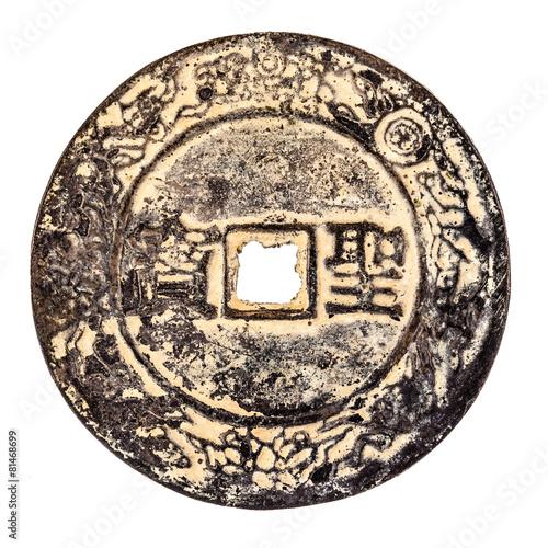 Fotografia, Obraz  an ancient chinese coin
