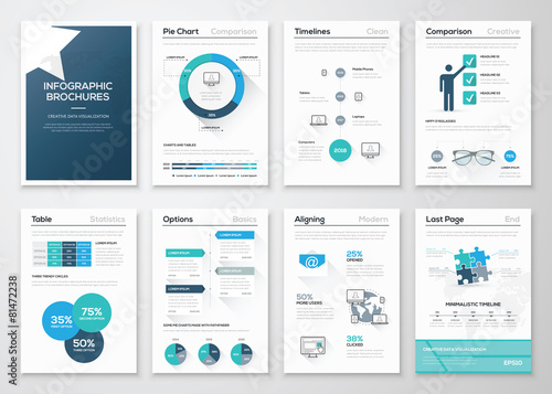Photo  Creative infographic vector concept. Business graphics brochures