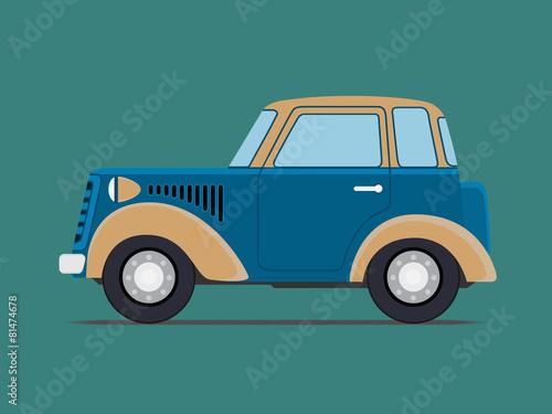 Canvas Vintage  car.