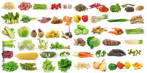 Canvas Prints Vegetables set of vegetable on white background