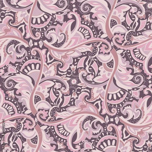 In de dag Boho Stijl Paisley seamless pattern