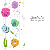 Decorative abstract flowers greeting card