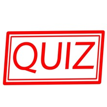 QUIZ Red Stamp Text On White
