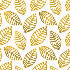 FototapetaHand Drawn Leaves Seamless Pattern