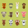 Set of animal cartoon characters.