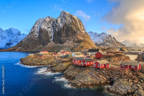 Fotobehang Scandinavië fishing villages in norway