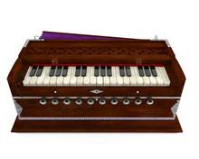 Old Indian Harmonium Isolated