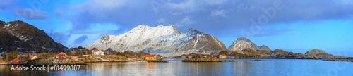 Poster Scandinavie fishing villages in norway
