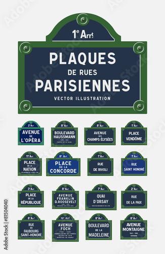 Fototapeta Plaques de rues Parisiennes